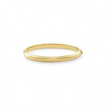 14K Yellow Gold Dome Bangle EJB15101
