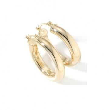 14K 4mm Classic Hoop Earrings EJER22230