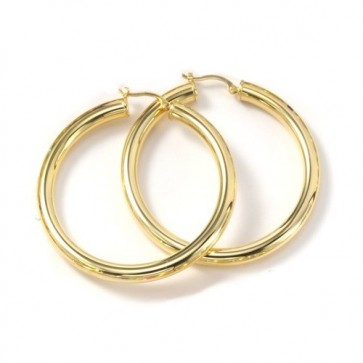 "14K 4mm 2"" Hoop Earrings EJER22233"