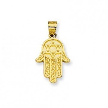 EJCM28721 - Solid 14K yellow gold Hamsa charm