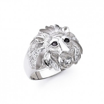 14K White Gold Lion Ring EJMR34132