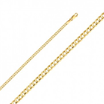 14K 2.2mm Cuban chain EJ35104050