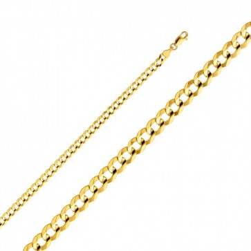 "14K Gold 4mm Cuban Chain 18"" EJCN35104"