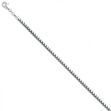 14K white 2.5mm FRANCO chain 24'' EJCN35236