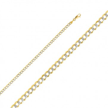 "14K 2T 3.5mm Cuban Chain 24"" EJCN35430"