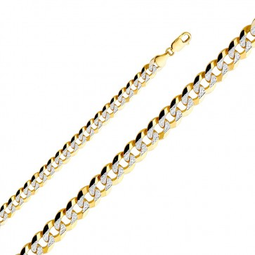 "14K 2T 8mm Cuban Chain 26"" EJCN35433L"