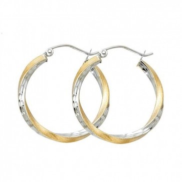 14K gold D/C hoop earrings EJER0093