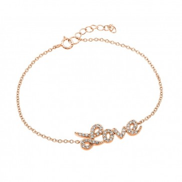 EJBGB00188RGP - Elegant sterling silver LOVE rose gold plated bracelet