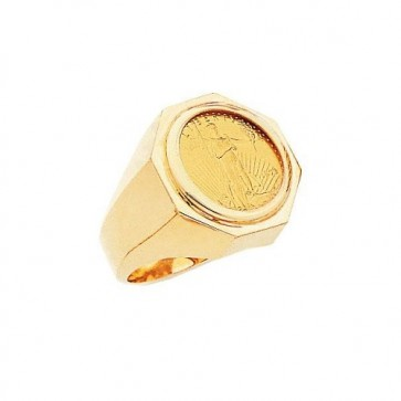 22K American Eagle Coin 14K Ring EJR35005