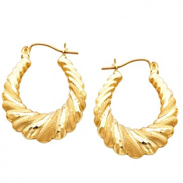 14K Fancy Hollow Earrings EJER834