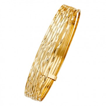 14K Yellow Gold D/C Bangles EJB14501