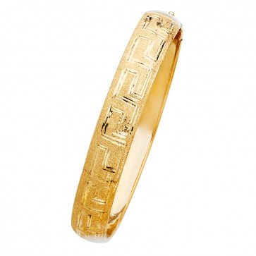 14K yellow gold Greek Key bangle EJGL64