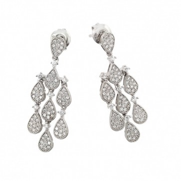 EJGME00002 - Fancy sterling silver teardrop earrings