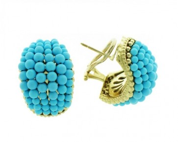 14K gold Turquoise earrings EJER18100T