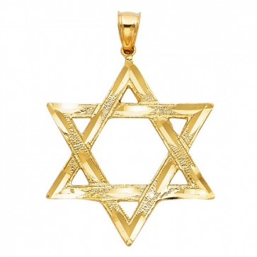 14K gold Star of David charm EJCM28625