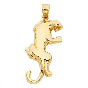 14K yellow gold puma pendant EJPT1618