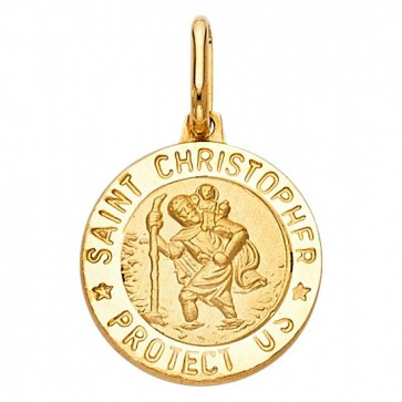 14K yellow gold St.Christopher pendant EJPT267