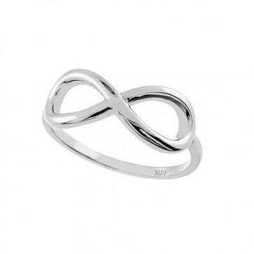 14K white gold Infinity ring EJLR655W