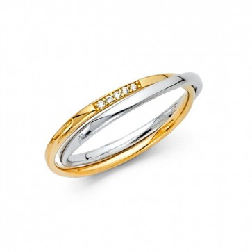 14K CZ wedding band EJRG1389
