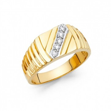 14K CZ Ring for Men EJRG1469