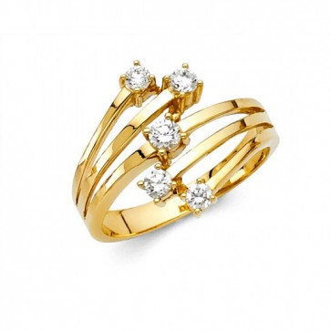 14K Ladies CZ ring EJRG280
