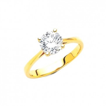 14K yellow solitary ring EJLRCZ03