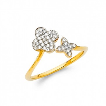 14K Designer Flower CZ ring EJRG865