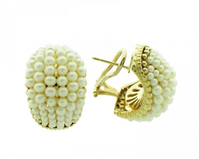 14k Gold Pearl Earrings Ejer18100p