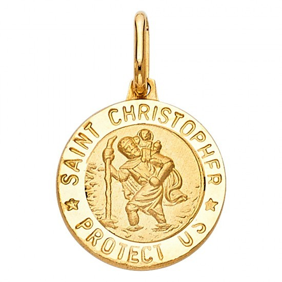 14k yellow gold stristopher pendant ejpt267 mozeypictures Images