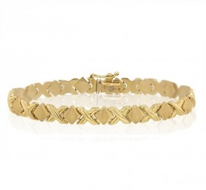 14K Hugs & Kisses bracelet EJB13705