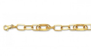 14K Oval Links Bracelet EJB13908