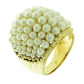 14K Yellow Gold Pearl Ring EJLR18100P