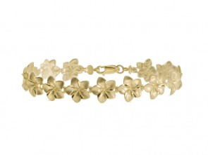 14K Hawaiian flower bracelet EJB19122