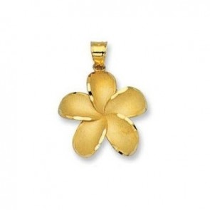 14K Hawaiian flower charm EJCM19107