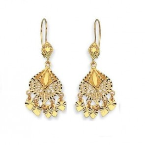 14K Yellow Gold Chandelier D/C earrings EJER22809