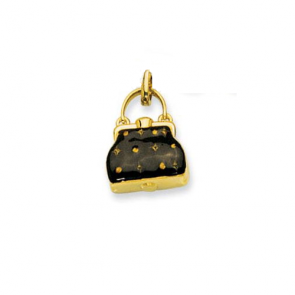 14K brown Purse charm EJCM26281