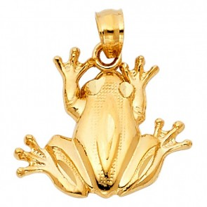 14K yellow gold frog charm EJCM26420