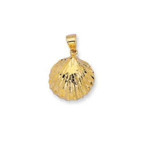 14K yellow gold shell charm EJCM26423
