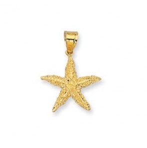14K yellow gold Starfish charm EJCM26434