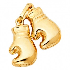 14K yellow boxing gloves charm EJCM26529