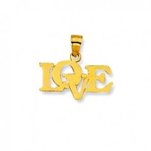 14K yellow gold LOVE charm EJCM26629