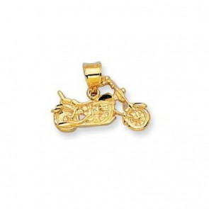 14K gold motorcycle charm - EJCM26737