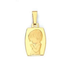 14K boy Communion medal EJM27119
