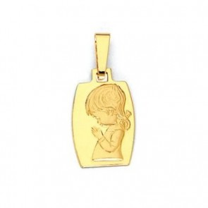 14K girl Communion medal EJM27124