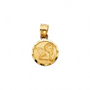 14K yellow Angel pendant EJM27133