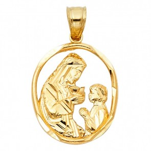 14K Yellow First Communion Medal EJM27606