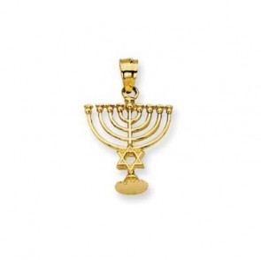 14K yellow Menorah charm EJCM28719