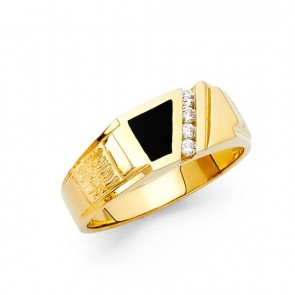 14K Gold Black Onyx Ring EJMR29633