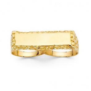 14K Nugget 2 Finger Ring EJMR29719