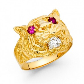 14K Tiger Head Ring EJMR29731